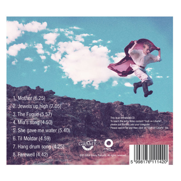 Gulli Briem – Liberte (CD) back cover