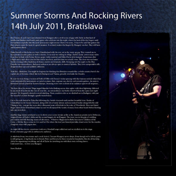 Djabe special guest Steve Hackett – Summer Storms and Rocking Rivers (2LP) inner 1