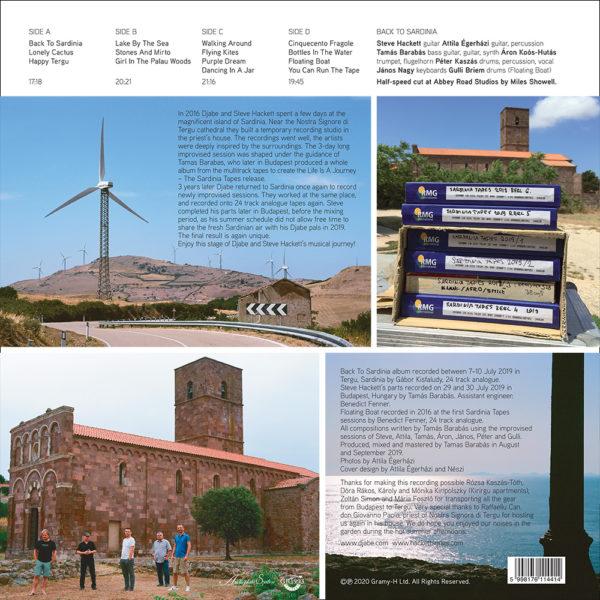 Djabe & Steve Hackett – Back To Sardinia (2LP) back cover