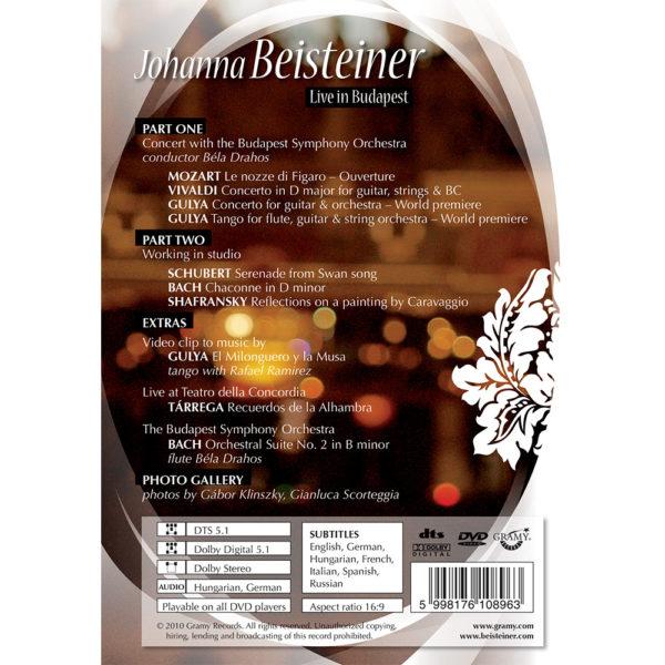 Johanna Beisteiner – Live In Budapest (DVD) back cover