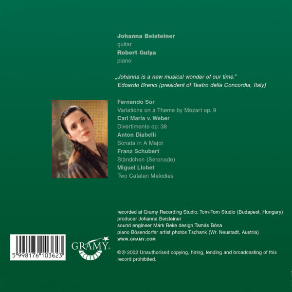 Johanna Beisteiner – Salon (CD) back cover