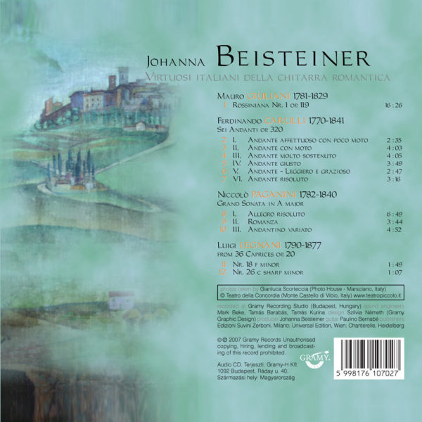 Johanna Beisteiner – Virtuosi Italiani (CD) back cover