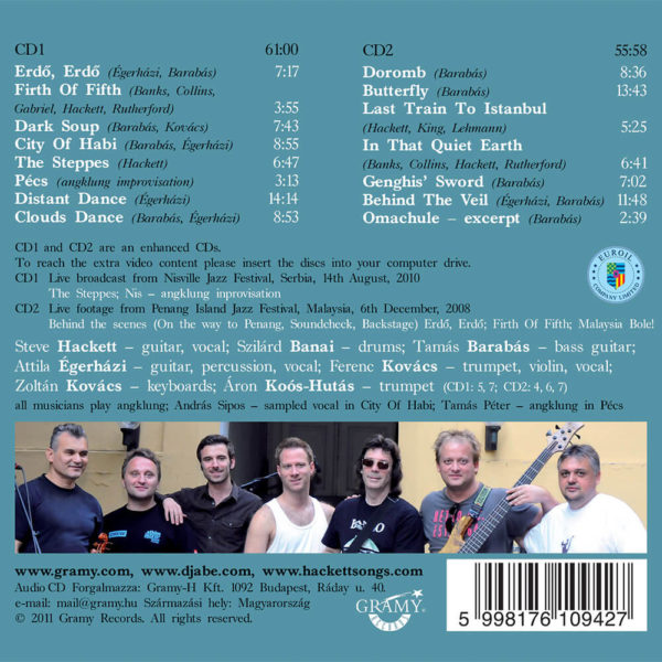 Djabe special guest Steve Hackett – In The Footsteps Of Attila And Genghis (2CD) back cover