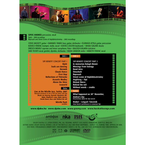 Djabe/Steve Hackett – Sipi emlékkoncert (2DVD) back cover