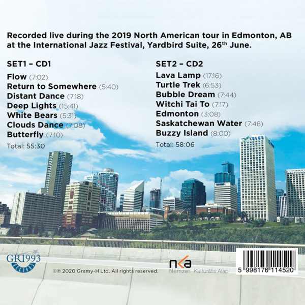 Djabe – Live In Edmonton (2CD) back cover