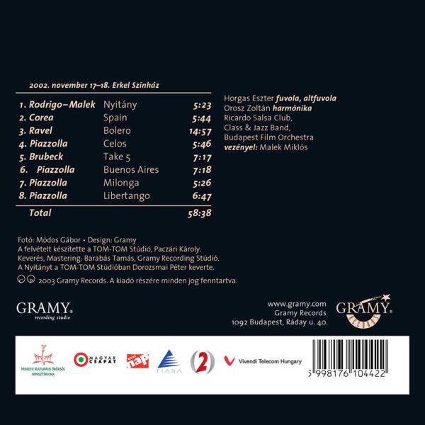 Horgas Eszter Arcai IV. – Latin Fiesta (CD) back cover