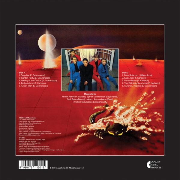 Mezzoforte – Surprise Surprise (LP) back cover