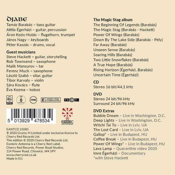 Djabe – The Magic Stag (CD+DVD) back cover