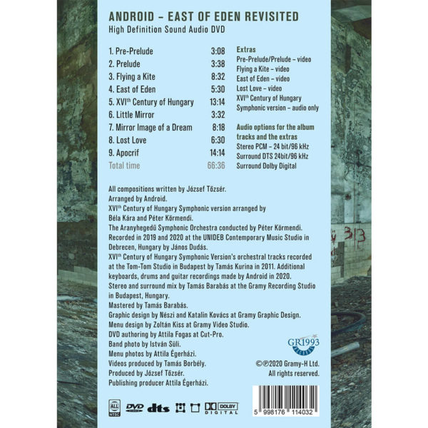 Android – East Of Eden Revisited (DVD) back cover