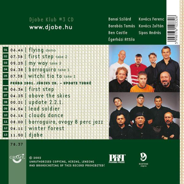 Djabe – Amit az Updaterol meg tudni lehet (CD) back cover