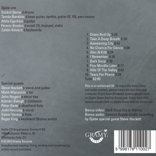 Djabe – Down and Up (CD) back cover