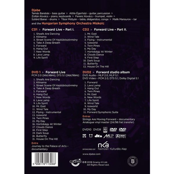 Djabe – Forward Live Mediabook (2CD+2DVD) back cover
