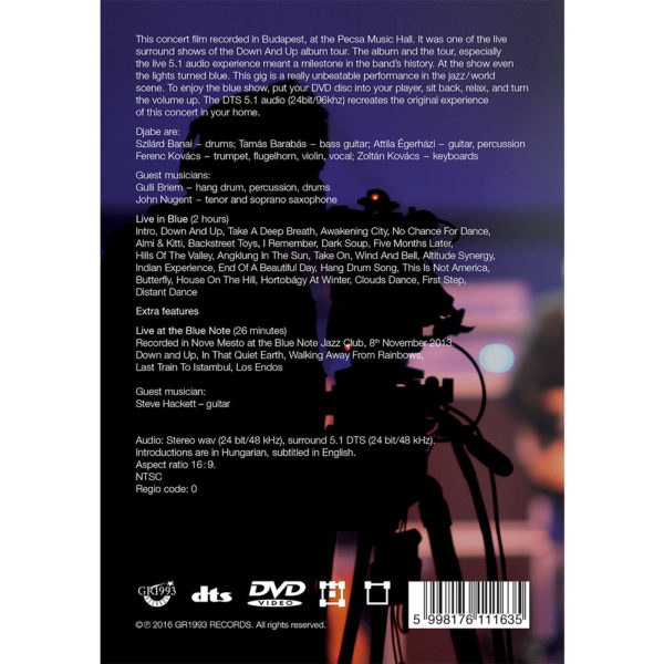 Djabe – Live in Blue (DVD) back cover