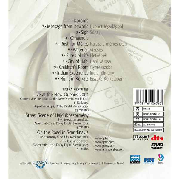Djabe – Slices of Life (5.1 DVD-EAD) back cover