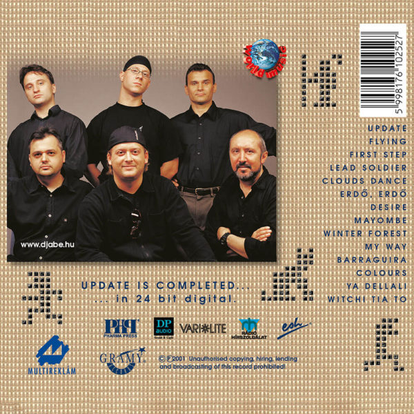 Djabe – Update (CD) back cover